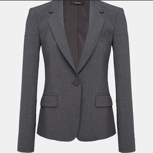 Womens Theory Gray Wool Blazer 00